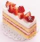 いちごホワイトチョコのケーキ¥432(税込)