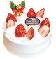 苺のクリスマスケーキ(5号/15cm)[税込3,456円]