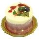 カシスのレアチーズケーキ