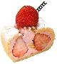 メガネ風イチゴのクリームロールケーキ[税込400円]