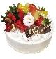 フルーツいっぱい生クリームケーキ