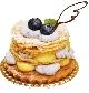 ブルーベリーとチーズのミルフィーユタルト/¥350(税込)