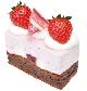 苺とチョコのケーキ/¥380(税込)